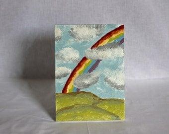 Original - Acrylic Painting - Cloudy Rainbow