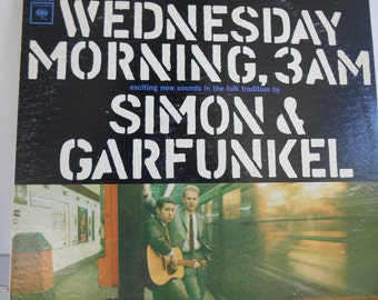 Simon and Garfunkel Wednesday Morning, 3AM Vinyl Record