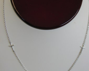 Cross Necklace With Natural Diamond 925 Sterling Silver