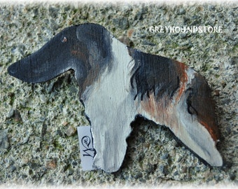 BROOCH with BORZOI