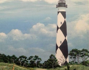 Cape Lookout Lighthouse Acrylic Art Print