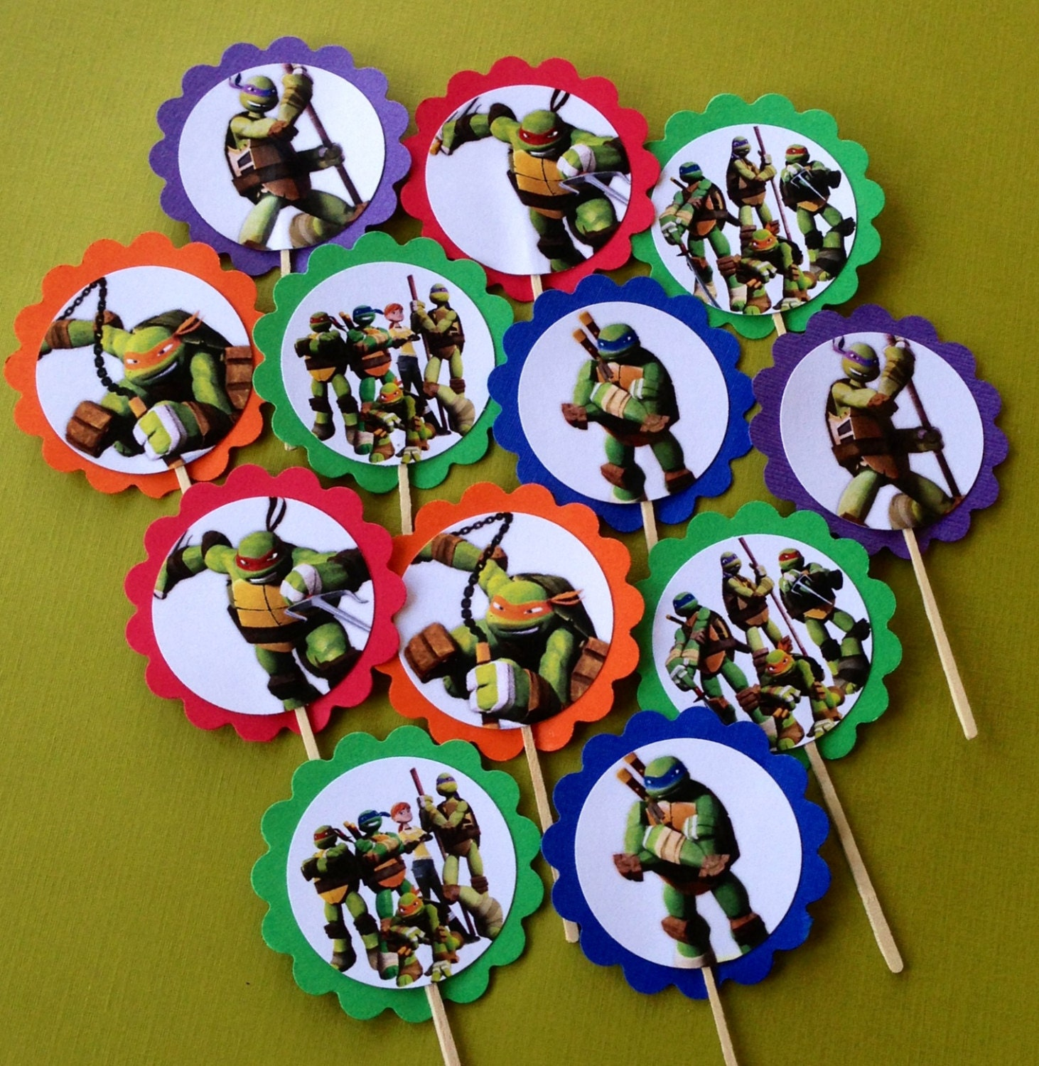 Teenage Mutant Turtle Cake Toppers