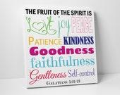 Fruit of the Spirit Wall Art - Multi Color - Canvas Art