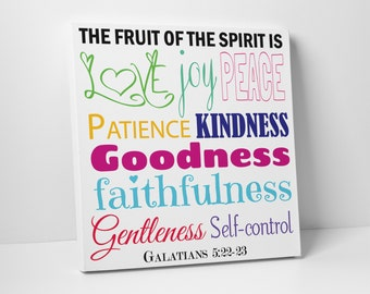 Fruit of the Spirit Wall Art - Multi Color - Canvas Art