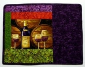 SALE - Bordeaux Provence Placemat Cabernet Kegs 3 Glasses