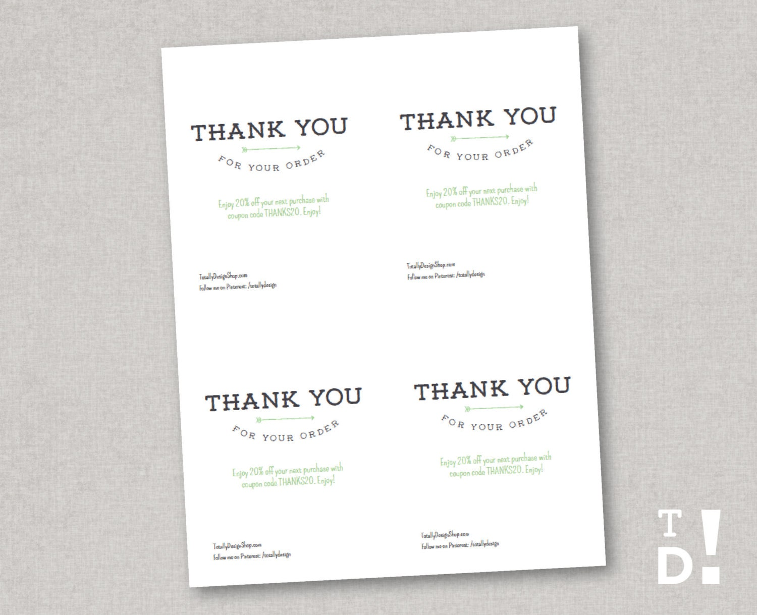 It's just a photo of Trust Thank You for Your Purchase Printable
