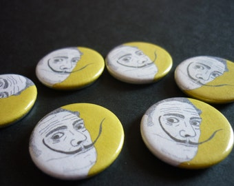 "Salvador Dali Handmade 1"" Button Badge"
