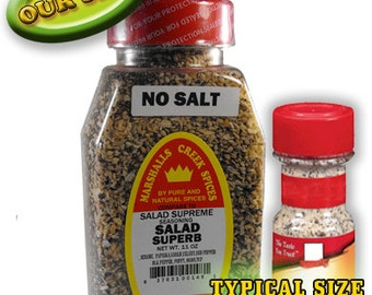 SALAD SUPERB seasoning No Salt 11 oz (Compare to Salad Supreme)