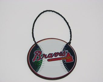 Atlanta Braves Door Knob Hanger - Boys Room Decor - Christmas Ornament