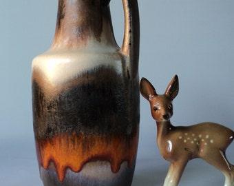 Bright glazed Scheurich vase