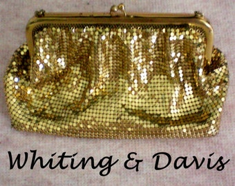 Whiting & Davis Gold Mesh Bag / Purse - 3034