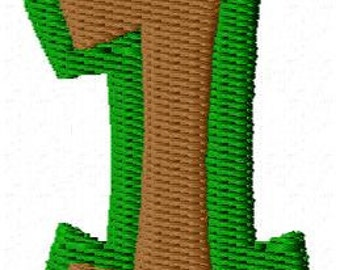 Number One Mini Embroidery Design