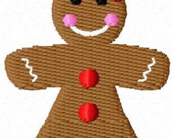 Gingerbread Girl Mini Embroidery Design