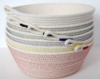 natural rope bowl, basket -large steep