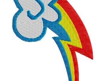 Rainbow Dash Cutie Mark Machine Embroidery Pattern
