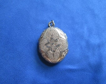 Antique gold photo locket