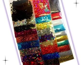 Franken Polish Glitter & Glitter Shape Sampler Pack - Solvent Resistant DIY Nail Polish