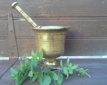 1860, Antique Mortar, Greek Art, Rustic Decor, Mortar And Pestle, Pagan Decor, Primitive Mortar,