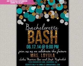 Bachelorette Bash Bachelorette Party Invitation - Custom Bridal Shower Invitation - DIGITAL -  DIY Printable Invitation