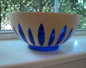 RESERVED FOR NOEL Blue and White Plastic Regaline Bowl