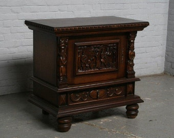 Antique Bruegel Style Cabinet in Oak Circa 1920's