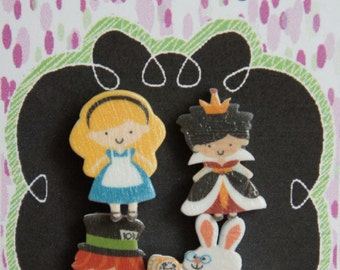 Alice in Wonderland  - Inspired Earring Set   Mix & Match!!