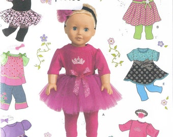 "Simplicity 1711 18"" doll clothing pattern"