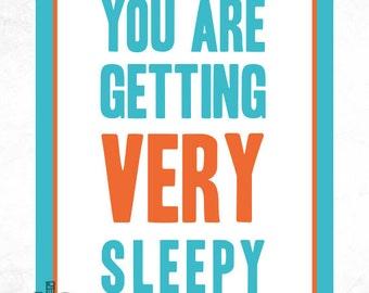 You Are Getting Very Sleepy Personalized Nursery Print - 8x10 Print - Nursery Art - Baby Wall Art