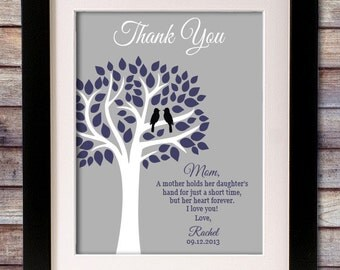 Wedding Thank You Gift for Mom - Mother Wedding Gift - Personalized Sign - Wedding Sign