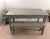 Farmhouse Table / Farm Table / Harvest Table (driftwood grey)