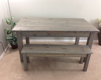 Farmhouse Table / Farm Table / Harvest Table (driftwood grey)