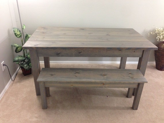 Farmhouse Table Farm Table Harvest Table driftwood grey