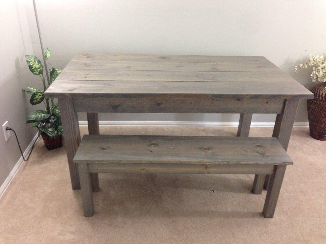 Farmhouse table farm table harvest table driftwood grey for Farmhouse bench
