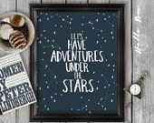 Inspirational quote, inspirational poster, life quotes, wall art, typography, quotes for children, calligraphy, stars JPEG -INSTANT DOWNLOAD