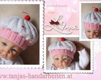 Cupcake Baby Hat Knitting Pattern