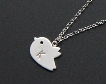 Personalized Necklace with Small Bird, Minimalist Necklace, Everyday Jewelry, Wedding Jewelry, Bridemaids gifts, JEW000244