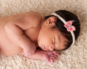 Little Girl Headband with Butterfly accent