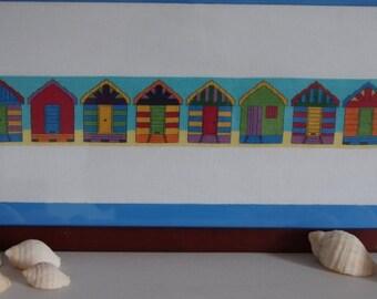 Beach Boxes / Bathing Huts Cross Stitch Pattern