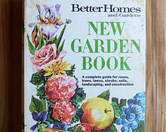 Vintage Better Homes & Gardens New Garden Book 1960s Mid Century
