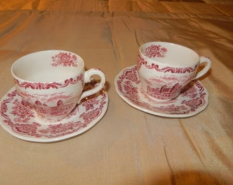 ENGLAND ENOCH WEDGWOOD Tunstall Ltd Cups and Saucers