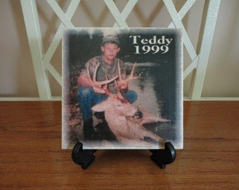 Personalized HUNTING Tile, Name, Deer, Dad, Pet, Dog, Cat, Any Theme