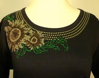 Sunflower Rhinestone Shirt