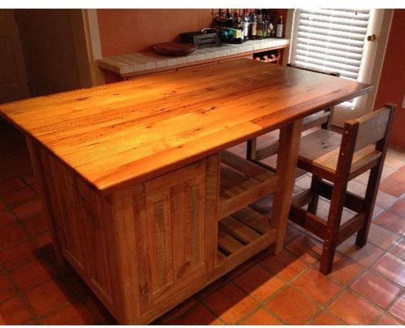 Kitchen Island Rustic Shabby Chic Wood Kitchen Island
