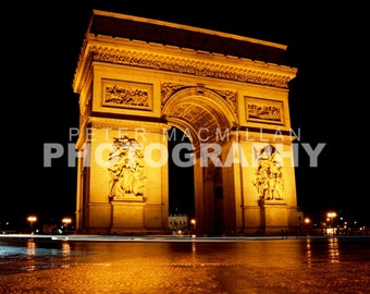 Golden Arch - Arc de Triomphe Time Lapse - Champs Elysees - Paris