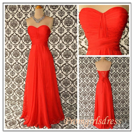 Prom Dress, Red Long Prom Dresses, Red Prom Gown, Long Red Prom Gowns,  Red Bridesmaid Dress, Long Bridesmaid Dresses, Red Evening Dress