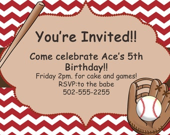 Instant Download Baseball Birthday party pack by ...