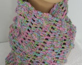 Soft pinks and blues multicolored bubble scarf - softtotouch