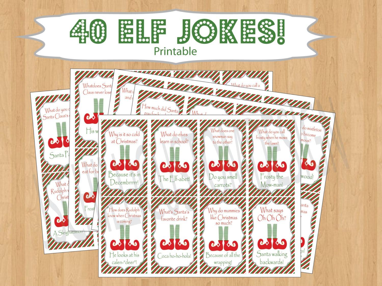PRINTABLE Shelf Elf Inspired Jokes& by JSchilliCustomDesign