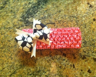 Infant Soccer Headband - You Pick Headband Color