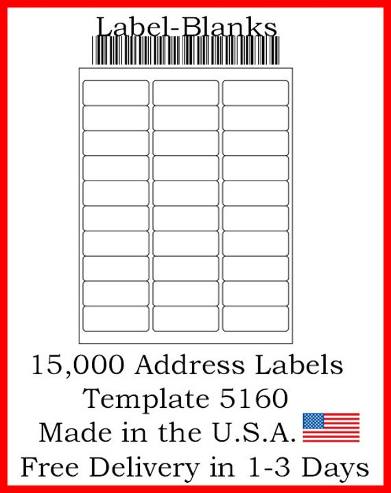 Laser Ink Jet Labels 500 Sheets 1 X 2 58 Avery Template
